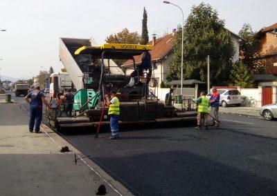 Реконструкција на главната сообраќајница во општина Ѓорче Петров