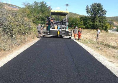 Изградба на општински пат во с. Теново